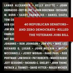 40 Republican Senators killed the Veterans Job Bill. Vote angry