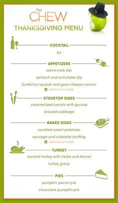 The Chew's #Thanksgiving Menu