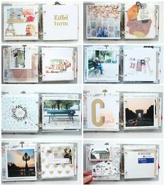 "Mini album ""Paris"" Details 2 / Steffi Ried #scrapbooking #cratepaper #maggieholmes"