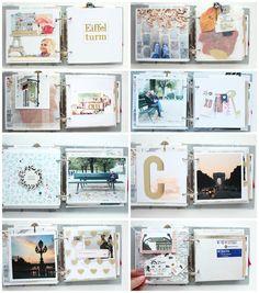 """Mini album """"Paris"""" Details 2 / Steffi Ried #scrapbooking #minialbum #cratepaper #maggieholmes"""