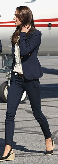 kate middleton, casual in navy {ny mag}