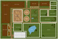Horse Farm Layout, Barn Layout, Horse Barn Plans, Horse Barns, Minecraft Farmen, Minecraft Horse Stables, Horse Barn Designs, Future Farms, Dream Barn