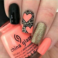 Hey there lovers of nail art! In this post we are going to share with you some Magnificent Nail Art Designs that are going to catch your eye and that you will want to copy for sure. Nail art is gaining more… Read Heart Nail Designs, Simple Nail Art Designs, Best Nail Art Designs, Easy Nail Art, Coral Nail Designs, Coral Nail Art, Coral Nails, Gold Nail, Gold Glitter
