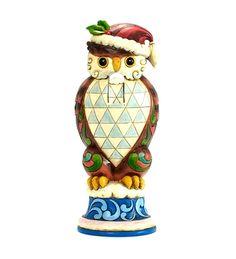 Jim Shore Christmas Owl Nutcracker Figurine
