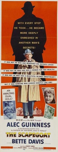 The Scapegoat (1959) Old Movie Posters, Scapegoat, Another Man, Old Movies, Sisters, Vintage Movies
