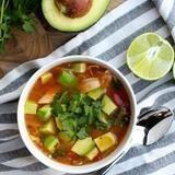 "Crockpot Chicken, Avocado and Lime Soup healthy whole30 paleo glutenfree Recipost Reciposter ""Dallas Food Blogger"" ""The Defined Dish"""