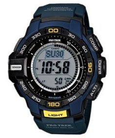 A combination of fashion and strength is the characteristic of Casio Tough Solar Protrek Triple Sensor.