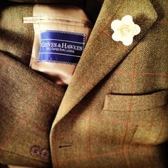Tweed. Gieves & Hawkes. Boutonniere.