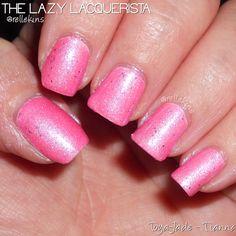Lazy Lacquerista: Toya-Jade Swatch :: Tianna :: Glow in the Dark