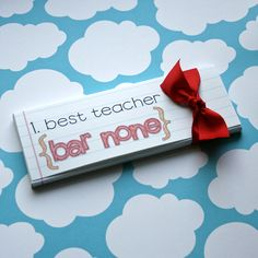 Cute teacher gift ideas - glad our teachers aren't on my Pintrest - they'd know for sure my ideas are NOT original!!
