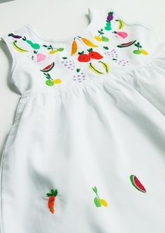 fruit embroidered dress