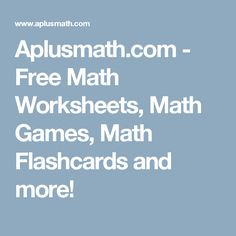 Free math learning resources for teachers and students - including games, flashcards, homework helpers, and worksheets. Education Sites, Kids Education, Parent Resources, Learning Resources, Worksheet Generator, Free Math Worksheets, Numeracy, Home Schooling, Math Games