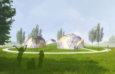 Autarkisch wonen TerpDomes Dronten NL | Arc2 architecten Tiny House, Golf Courses, Tiny Houses
