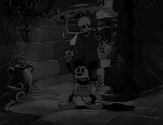 scary gif love cute light Black and White disney beautiful vintage mickey mouse lovely dark skull castle skeleton darkness spooky mouse chains mickey The Mad Doctor 1933 mikey mouse match black&white spiderwebs spookey mickey black white Retro Halloween, Mickey Halloween, Halloween Gif, Halloween Horror, Halloween Pictures, Halloween Stuff, Cartoon Cartoon, Mickey Mouse Cartoon, Vintage Mickey Mouse