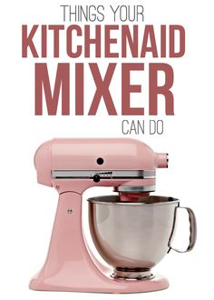 Things Your KitchenAid Mixer Can Do - this kitchen appliance is a master multi-tasker! It makes ice cream, sausage, pasta and so much more. You may be surprised at the things your KitchenAid Mixer can do! This is one awesome multi-tasking small appliance. Kitchen Aid Recipes, Kitchen Hacks, Kitchen Gadgets, Kitchen Appliances, Kitchen Tools, Cooking Gadgets, Kitchens, Kitchen Maid, Slate Appliances