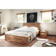 Lit 160 x 200 cm en bois de sheesham massif Stockholm | Maisons du Monde