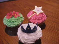 Princess Cupcakes - Crown, Wand, Flowers