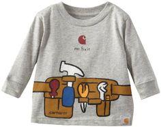 Amazon.com: Carhartt Baby-Boys Newborn Long Sleeve T-Shirt Tool Belt: Clothing