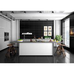 Sugar Black Porcelain Tile - 12in. x 24in. - 100193572 | Floor and Decor