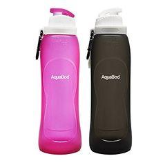 Aquabod Collapsible Water Bottle - BPA Free, 17oz - Set o...