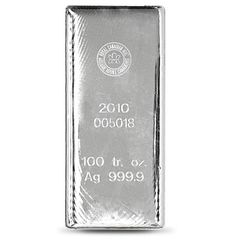 Royal Canadian Mint Silver Bar - 100 Ounce   VAT FREE