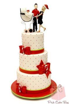 Holiday babyshower cake