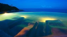 Immersed massage loungers at Silavadee Pool Spa Resort in Koh Samui, Thailand