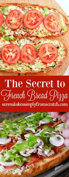 The secret to really good French Bread Pizza! serenabakessimplyfromscratch.com