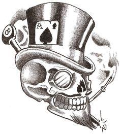 Lucky Skull by TheLob.deviantart.com on @DeviantArt