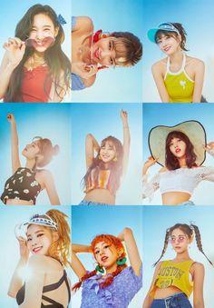 Twice Summer Nights Kpop Girl Groups, Korean Girl Groups, Kpop Girls, South Korean Girls, Nayeon, Twice Dahyun, Tzuyu Twice, K Pop, Twice Photoshoot