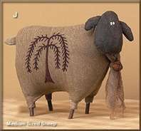 primitive sheep with willow on side (decorative plush)