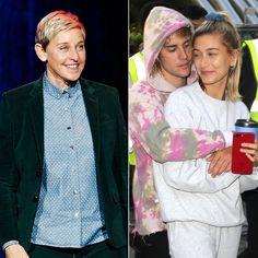 Ellen DeGeneres Roasts Justin Bieber and Hailey Baldwin's 'Vogue' Cover Vogue Magazine Covers, Vogue Covers, Ellen Degeneres, Hailey Baldwin, Justin Bieber, Hello Kitty Photos, Old Makeup, The Ellen Show, Engagement Celebration