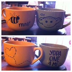 Sharpie mugs for my sweet!