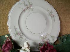 Vintage Plate Arcadian Fine China Old Rose Pattern Salad Dessert Serving Dish…