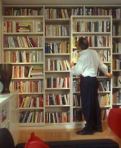 Sliding Book Shelves for Living Room Makeover, Space Saving Interior Design Ideas