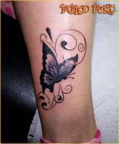 Fotografias De Tatuajes Mariposas Multicolores Y A Blanco Negro