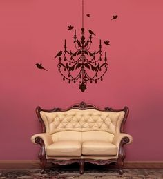 Large Wall Decals | Decal Art - Chandelier Wall Decal — Removable Wall Decals & Stickers ...