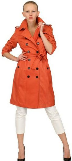 Soft Nappa Leather Trench Coat - Lyst