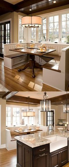 design dump: more kitchens Love the nook. The extra height on the ...