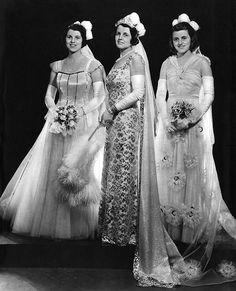 Rosemary Kennedy, Rose Kennedy, & Kathleen Kennedy in 1938