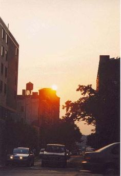 west 46th street and 10th avenue at sunset nyc photo mary clark manhattan neighborhoodshells kitchen new - Hells Kitchen Neighborhood