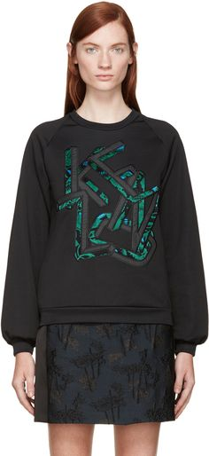 KENZO Black Jungle Logo Sweatshirt. #kenzo #cloth #sweatshirt