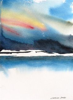 Original art for sale at UGallery.com | A Storm Coming In by Charles Ash | $450 | watercolor painting | 20' h x 16' w | http://www.ugallery.com/watercolor-painting-a-storm-coming-in