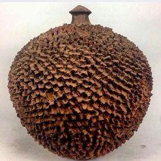 Lobi terracotta storage vessel from #burkinafaso. An amazing feat of hands on clay.