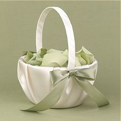 use extra material for bridesmaid dress for bow and petals.