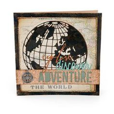 Project Ideas for Sizzix - Tim Holtz - Alterations Collection - Thinlits Die - Adventure Words - Block
