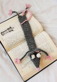 Virkattu kirjanmerkki | Lempipäiväni -tänään. Crafts For Girls, Hobbies And Crafts, Diy And Crafts, Knit Or Crochet, Easy Crochet, M Craft, Crochet Bookmarks, Knitted Dolls, Amigurumi Patterns