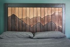 Instant Access To Woodworking Designs, DIY Patterns & Crafts Diy Wood Projects, Home Projects, Wood Mosaic, Wood Headboard, Headboards, Wooden Wall Art, Wood Wall, Diy Bed, Wood Pallets