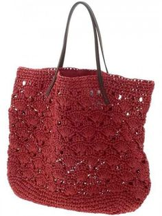 michael stars lace crochet tote bag - love the straps Crochet Shell Stitch, Crochet Tote, Crochet Handbags, Crochet Purses, Knit Or Crochet, New Bag, Knitted Bags, Crochet Accessories, Crochet Designs