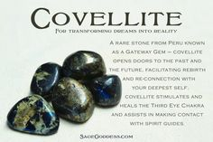Sacred, natural, beautiful Covellite. The stone that opens and heals your Third…